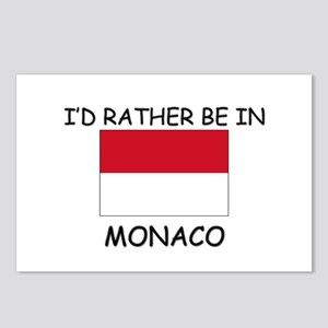 I'd rather be in Monaco Postcards (Package of 8)