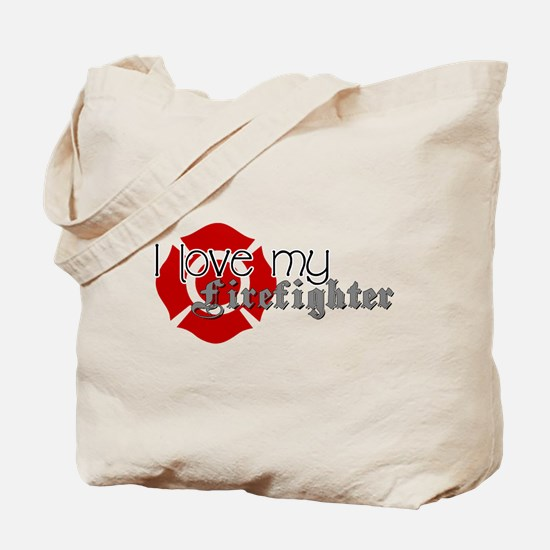 Cute Firemans girlfriend Tote Bag