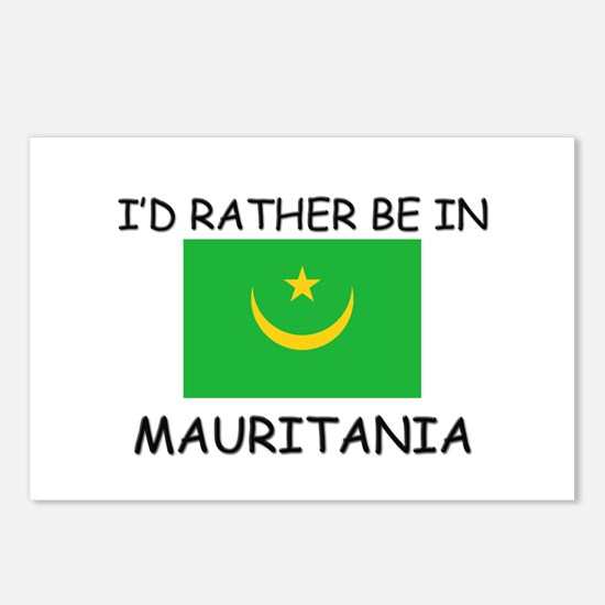 I'd rather be in Mauritania Postcards (Package of