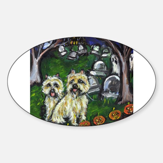 Cairn Halloween spooky gravey Oval Decal
