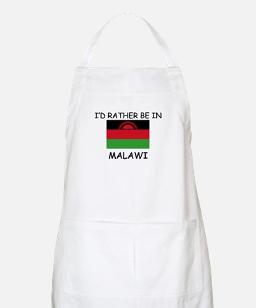 I'd rather be in Malawi BBQ Apron