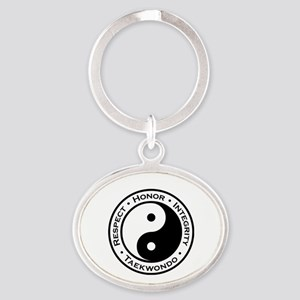 Respect Honor Integrity Tkd Oval Keychain