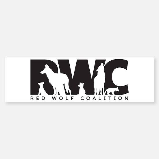 Red Wolf Coalition Logo Bumper Bumper Bumper Sticker