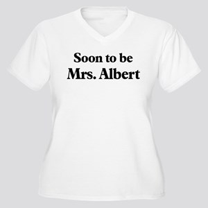 Soon to be Mrs. Albert Women's Plus Size V-Neck T-