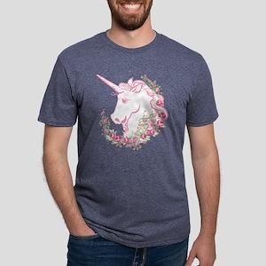 Unicorn and Roses Mens Tri-blend T-Shirt