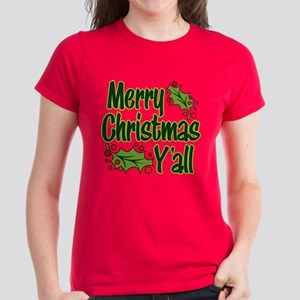 MERRY CHRISTMAS Y'ALL Women's Classic T-Shirt