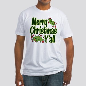 MERRY CHRISTMAS Y'ALL Fitted T-Shirt