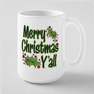 MERRY CHRISTMAS Y'ALL 15 oz Ceramic Large Mug
