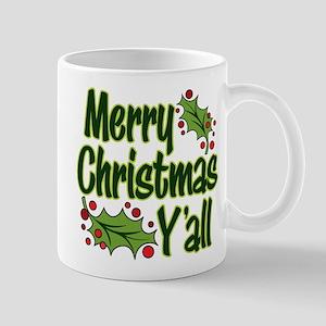MERRY CHRISTMAS Y'ALL 11 oz Ceramic Mug