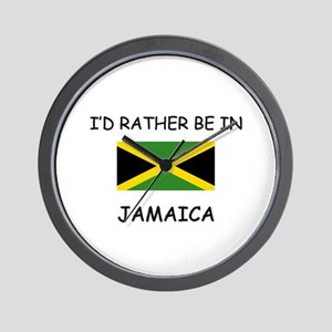 I'd rather be in Jamaica Wall Clock