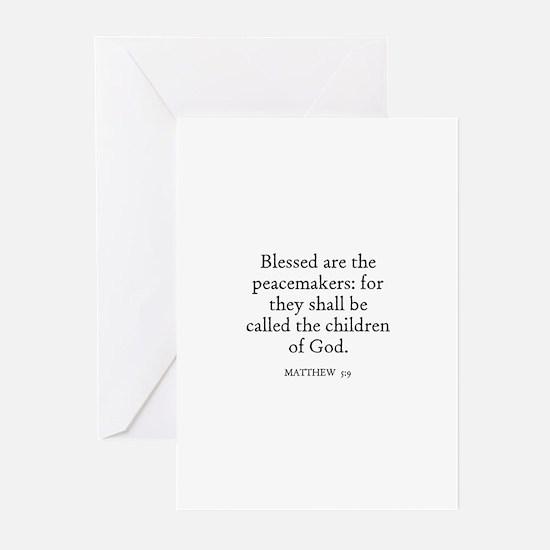 MATTHEW  5:9 Greeting Cards (Pk of 10)
