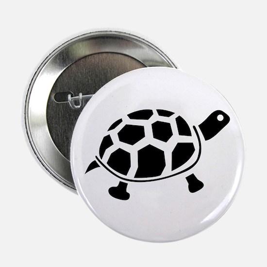 "Black and white Turtle 2.25"" Button"