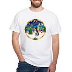 XmasMusic 3/Boston Terrier White T-Shirt
