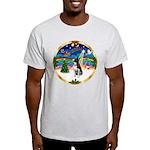 XmasMusic 3/Boston Terrier Light T-Shirt