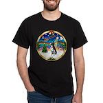 XmasMusic 3/Boston Terrier Dark T-Shirt
