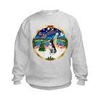 XmasMusic 3/Boston Terrier Kids Sweatshirt