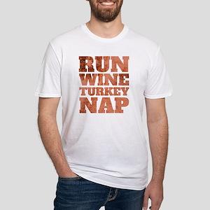 Run Wine Turkey Nap T-Shirt, 2018 Thanksgi T-Shirt