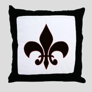Fluer De Lis Throw Pillow