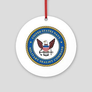 Military Sealift Command Logo Ornament (Round)