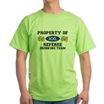 Property of Referee Drinking Team Green T-Shirt
