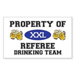 Property of Referee Drinking Team Sticker (Rectang