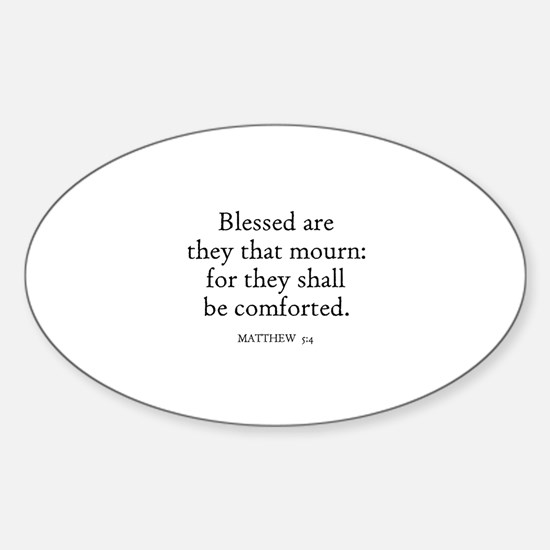 MATTHEW 5:4 Oval Decal