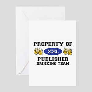 Property of Publisher Drinking Team Greeting Card