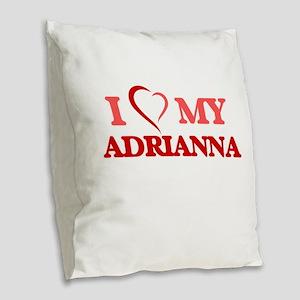 I love my Adrianna Burlap Throw Pillow