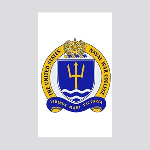 US Naval War College Rectangle Sticker