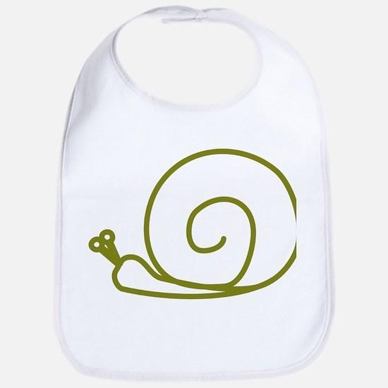 Green Snail Bib