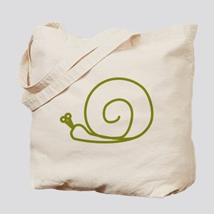 Green Snail Tote Bag
