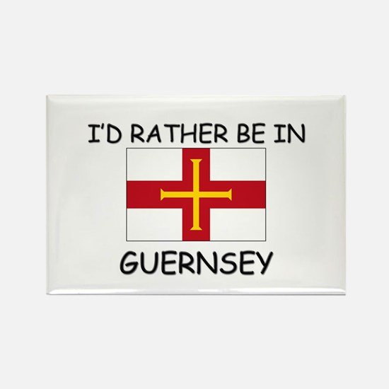 I'd rather be in Guernsey Rectangle Magnet (10 pac