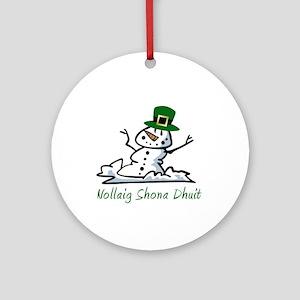 Irish Merry Christmas Ornament (Round)