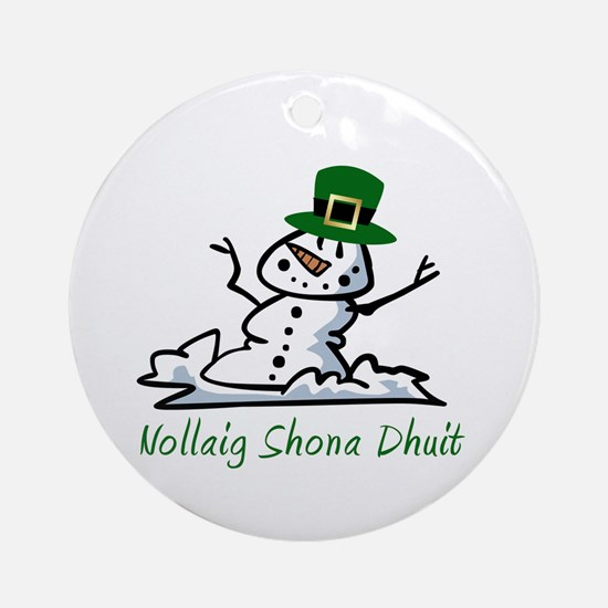 Irish Merry Christmas Ornament (Round)