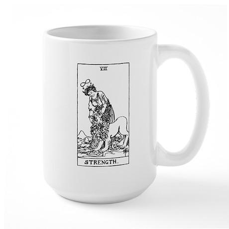 Strength Tarot Card Large Mug