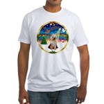 XmasMusic 3/Yorkie #2 Fitted T-Shirt