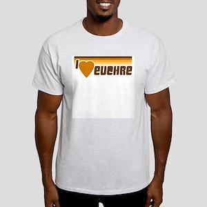 I Love (Heart) Euchre Ash Grey T-Shirt