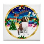 XmasMusic 3/ St Bernard #1 Tile Coaster
