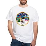 XmasMusic 3/ St Bernard #1 White T-Shirt