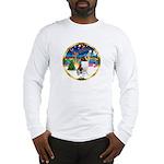 XmasMusic 3/ St Bernard #1 Long Sleeve T-Shirt