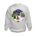 XmasMusic 3/ St Bernard #1 Kids Sweatshirt