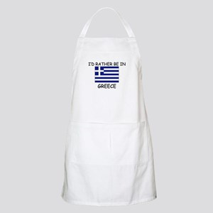 I'd rather be in Greece BBQ Apron