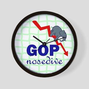GOP nosedive. Wall Clock