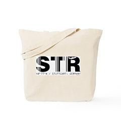 Stuttgart Airport Code Germany STR Tote Bag