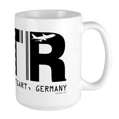 Stuttgart Airport Code Germany STR Large Mug