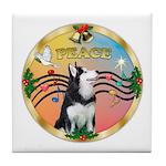 XmasMusic 3/Sib Husky Tile Coaster