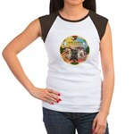 XmasMusic 3/3 Cairns Women's Cap Sleeve T-Shirt
