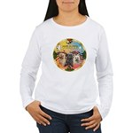 XmasMusic 3/3 Cairns Women's Long Sleeve T-Shirt