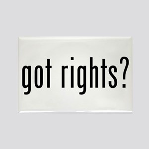 got rights? Rectangle Magnet