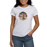 XmasStar/Silver Poodle #8 Women's T-Shirt